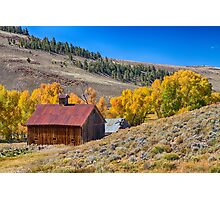 Colorado Rustic Rural Barn with Autumn Colors  Photographic Print