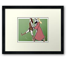 Gallifrey: we are a team! GREEN PRINT Framed Print