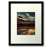 Sun in the Water Framed Print