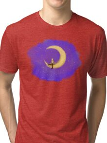 The Doctor and the Moon Tri-blend T-Shirt