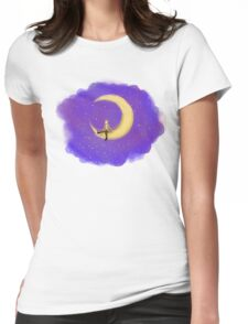 The Doctor and the Moon Womens Fitted T-Shirt