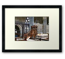 The Pulpit - Exeter Cathedral Framed Print