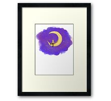The Doctor and the Moon Framed Print