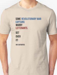 some revolutionary war captains marry leftenants Unisex T-Shirt
