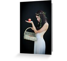The girl with the basket of apples Greeting Card