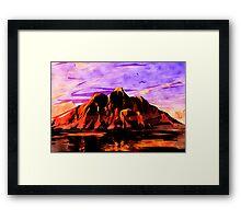 Land of Lava Framed Print