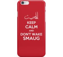 Keep Calm and Don't Wake Smaug iPhone Case/Skin