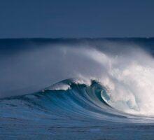 Morning surf at Sunset Beach. Sticker