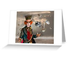 Mad Hatters Tea Party Greeting Card