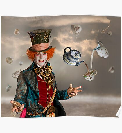 Mad Hatters Tea Party Poster