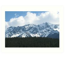 British Columbia Coastal Mountains Art Print
