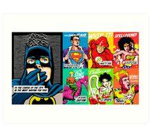 Post-Punk Super Friends Full Set 1 Art Print