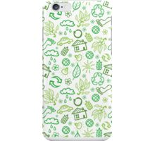 Eco symbols line art pattern iPhone Case/Skin