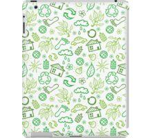 Eco symbols line art pattern iPad Case/Skin
