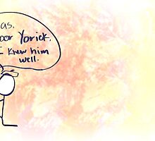 Stick Figure Shakespeare: Poor Yorick (Hamlet) by Jayca