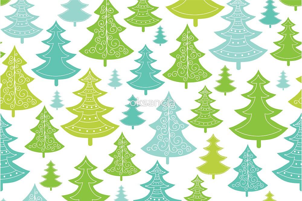 Decorative Christmas Trees Pattern by oksancia
