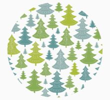Decorative Christmas Trees Pattern One Piece - Short Sleeve