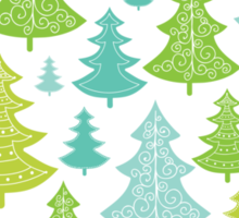 Decorative Christmas Trees Pattern Sticker
