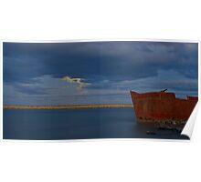 Waverley wreck - Wairau Lagoons Poster