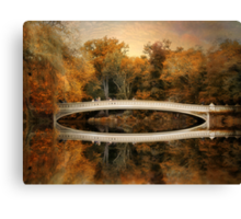 Bow Bridge Reflection  Canvas Print