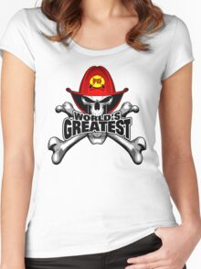 World's Greatest Firefighter Women's Fitted Scoop T-Shirt