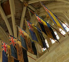 British Legion Flags, Exeter Cathedral, Devon by BlueMoonRose