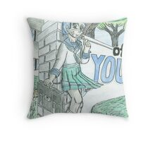 Schoolyard Greetings Throw Pillow