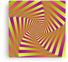 Psychedelic Five Arm Spiral Canvas Print