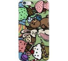 Teddy Bear And Bunny - Caught In The Act iPhone Case/Skin