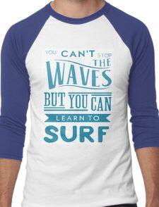 Learn to Surf Men's Baseball ¾ T-Shirt