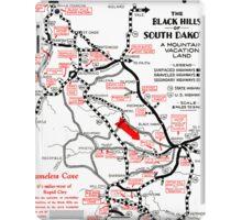 1938 Black Hills South Dakota Road Map iPad Case/Skin