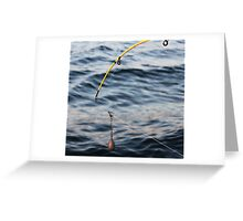 Bait and Hook Greeting Card