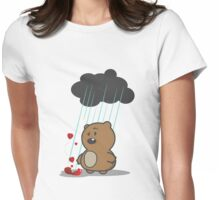 Im not crying, it's raining on my face Womens Fitted T-Shirt