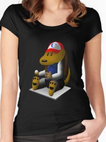 Baseball Dog Women's Fitted Scoop T-Shirt