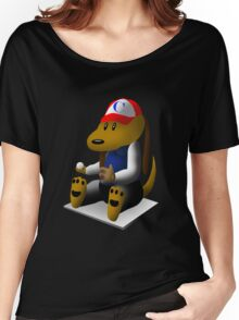 Baseball Dog Women's Relaxed Fit T-Shirt