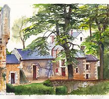 Montreuil-Bellay chateau in the Loire Valley of France by Dai Wynn