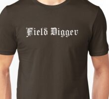 Field Digger – Metal detecting (white print) Unisex T-Shirt