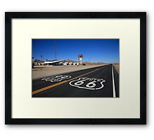 Route 66 Shield Framed Print
