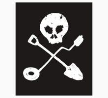 Detectorist Skull - Sondengaenger Schaedel Sticker by Bela-Manson