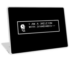 Skeleton with Standards Laptop Skin
