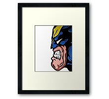 Marvel's Wolverine Comic Styled Profile Framed Print