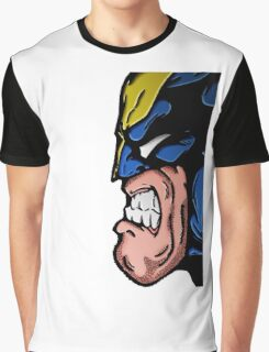 Marvel's Wolverine Comic Styled Profile Graphic T-Shirt