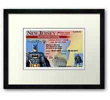 Batman Driver's License Framed Print