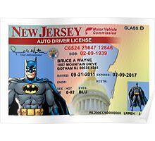 Batman Driver's License Poster