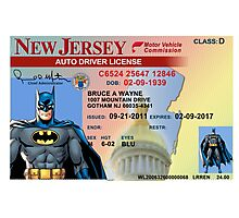 Batman Driver's License Photographic Print