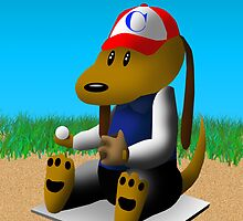Good Luck Baseball Dog by jkartlife
