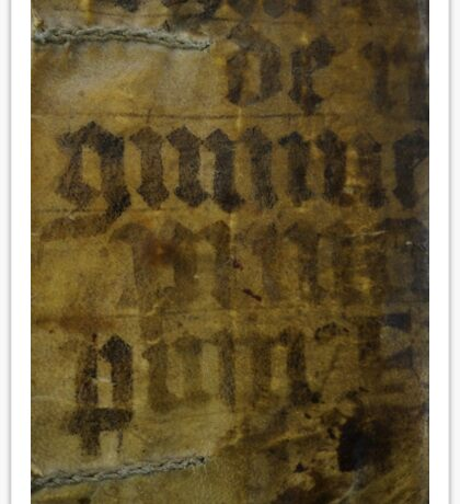 Medieval Book Cover Sticker