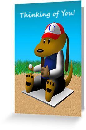 Thinking of You Baseball Dog by jkartlife