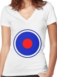 2nd Infantry Division Women's Fitted V-Neck T-Shirt