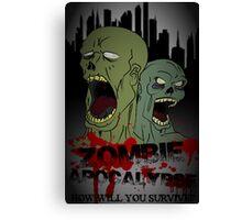 Zombie Apocalypse Poster Canvas Print